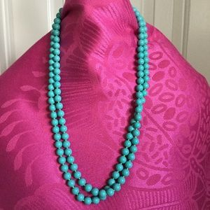 Stella and dot synthetic turquoise necklace